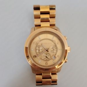 RARE ROSE GOLD MK OVERSIZED WATCH